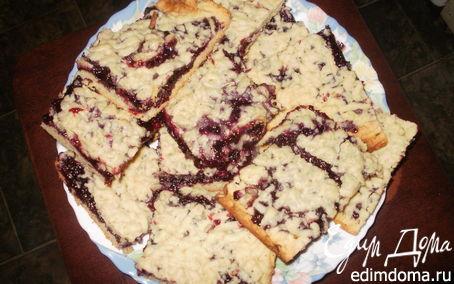Рецепт Тертый пирог с черносмородиновым джемом