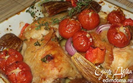 Рецепт Курочка, запеченная с овощами