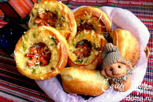 "Рецепт – Булочки ""Сосиски в норке"" на оливковом масле"