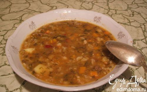 Рецепт Машхурда (мясной суп с машем и рисом)
