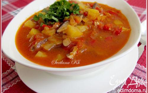 Рецепт Постный суп-гуляш с грибами по-венгерски
