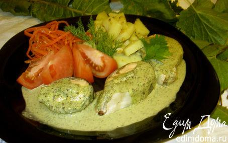 Рецепт Паровая рыба под соусом в пароварке