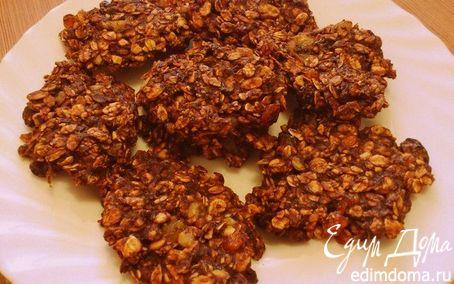 Рецепт Постное овсяно-шоколадное печенье