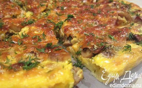 Рецепт Сливочно-грибной пирог