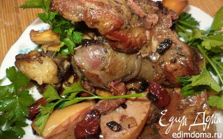 Рецепт Баранина, тушенная с бальзамом, барбарисом и айвой, в соусе из кизила