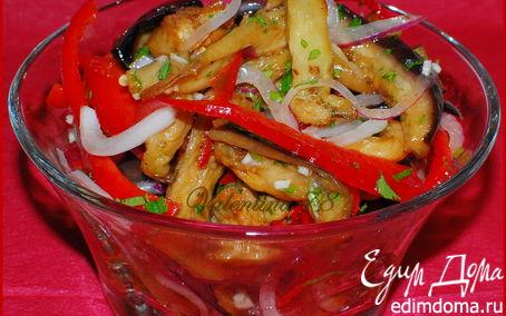 Рецепт Салат из маринованных баклажанов с овощами
