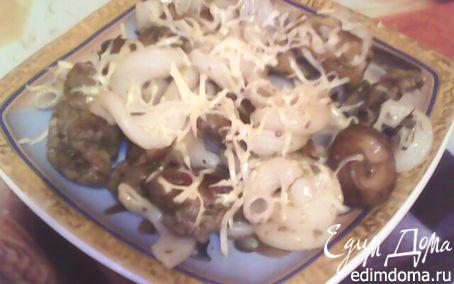 Рецепт Паста с печеночно-грибным соусом