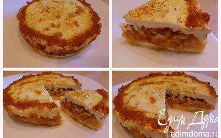 Рецепт Творожная запеканка с яблочной начинкой