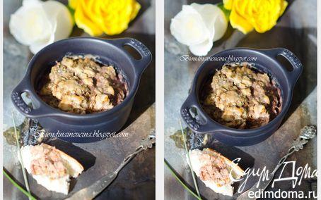 Рецепт Нежный террин из кролика с тимьяном и куриной печенью