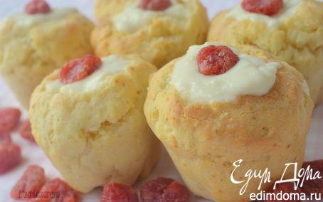 Рецепт Быстрые булочки с ванильно-лимонным кремом на завтрак