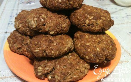 Рецепт Овсяное печенье с грушей