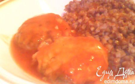 Рецепт Курино-грибные тефтельки в томатном соусе