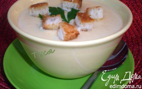 Рецепт Суп-пюре из цветной капусты со сливками и сыром