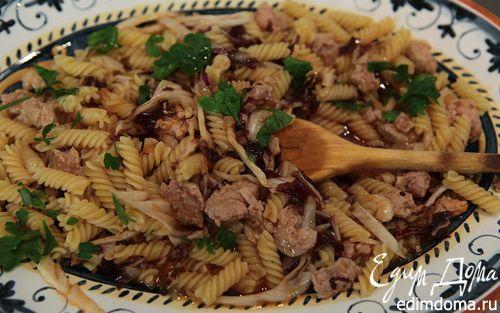 Рецепт Паста с колбасками и радиккио