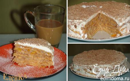 Рецепт Блинный тыквенный торт