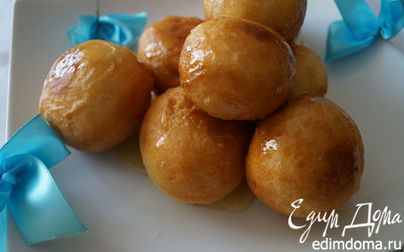 Рецепт Лукумадес, греческие пончики (λουκουμάδες)