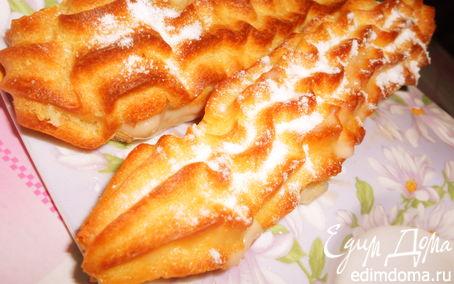 Рецепт Эклеры с ореховым кремом