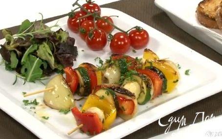 Рецепт Жареные овощи на шпажках