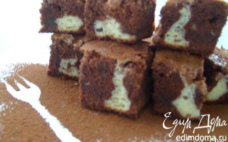 Рецепт Брауни с грецким орехом и сливочной начинкой