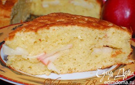 Рецепт Творожный пирог с яблочной прослойкой