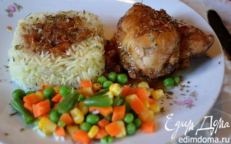 Рецепт Курица с медово-пивным соусом