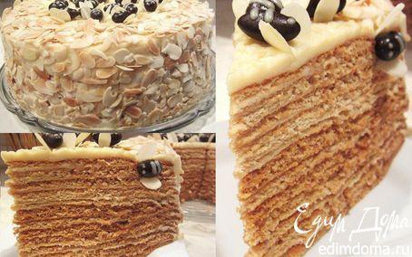 """Рецепт Медовый торт """"Пчелкин дом"""""""