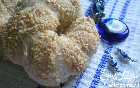 Рецепт Турецкий бублик Симит с сиропом пекмез