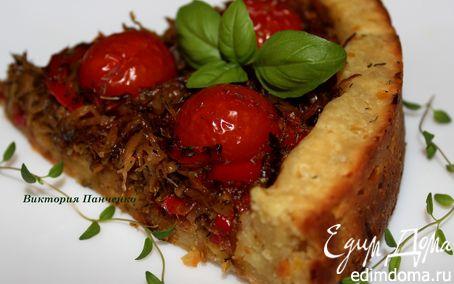 Рецепт Открытый овощной пирог на картофельном тесте
