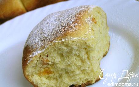 Рецепт Кукурузные булочки с курагой (на закваске)