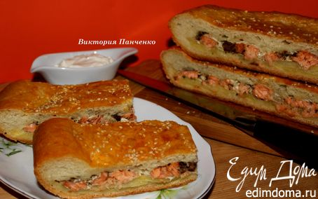 Рецепт Пирог с семгой и картофелем