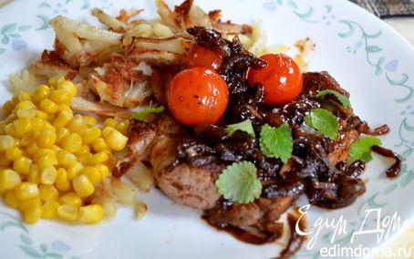 Рецепт Свинина с черри томатами