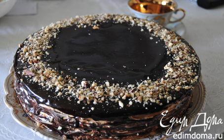 торт сникерс с грецкими орехами фото