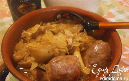 Рецепт Ломбардийская минестра на базе свинины и капусты (Кассуола)