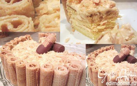 """Рецепт Домашний тортик """"Моя фантазия"""". Тает на глазах"""