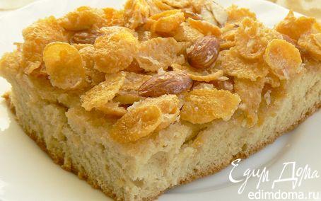 Рецепт Пирог с кукурузными хлопьями и миндалем
