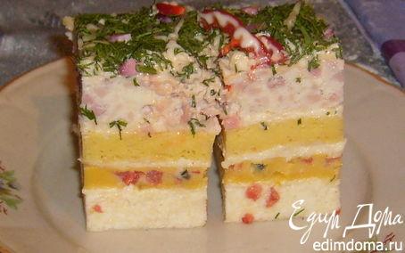 Рецепт Закусочный яичный тортик