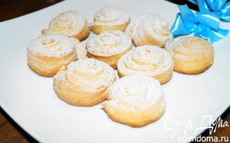 Рецепт Творожные булочки-завитушки с сахарной пудрой