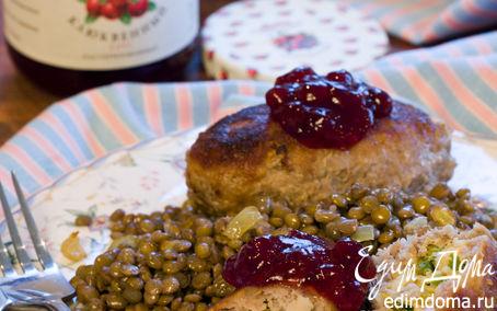 Рецепт Рисово-мясные зразы с чечевичным гарниром