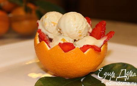 Рецепт Шоколадно-апельсиновое мороженое-мусс с медом