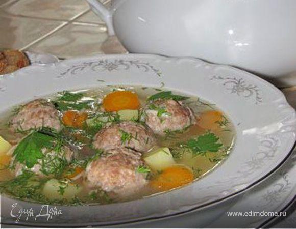 НАЗАД В СССР: суп с фрикадельками на курином бульоне