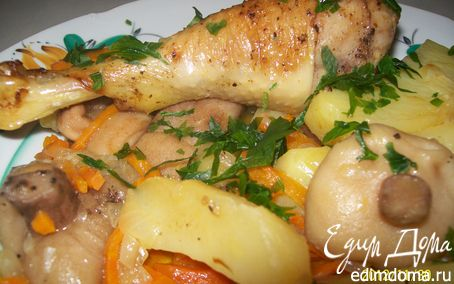 Рецепт Курица в жаровне