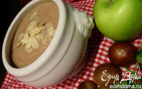 Рецепт Крем-суп из каштанов с карри, яблоком и белым вином