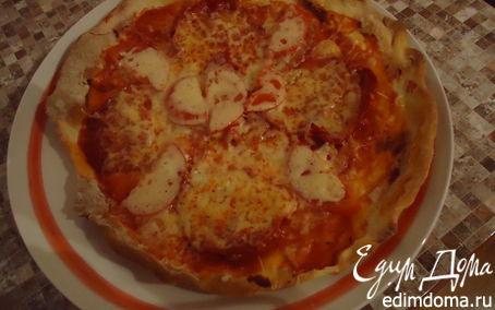 Рецепт Пицца с колбасой чоризо