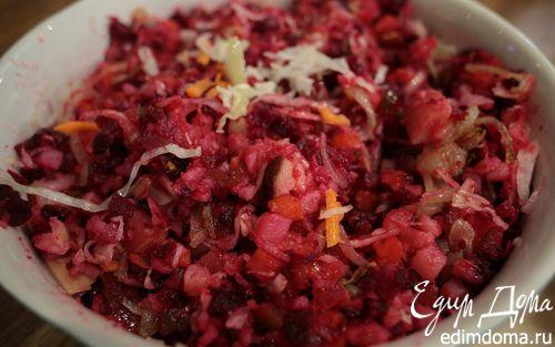 Рецепт Литовский винегрет с грибами