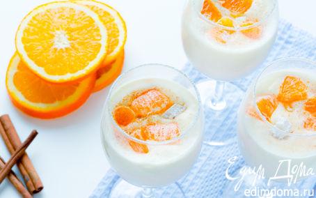 Рецепт Десерт с мандаринами и белым шоколадом