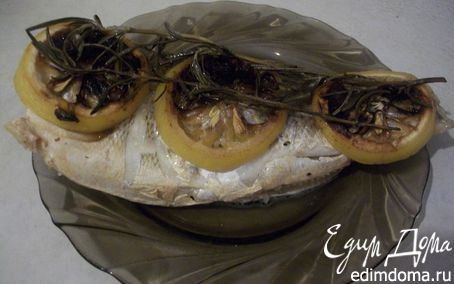 Рецепт Запеченная рыбка с розмарином и лимоном