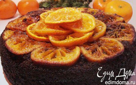 Рецепт Черемуховый пирог с мандаринами