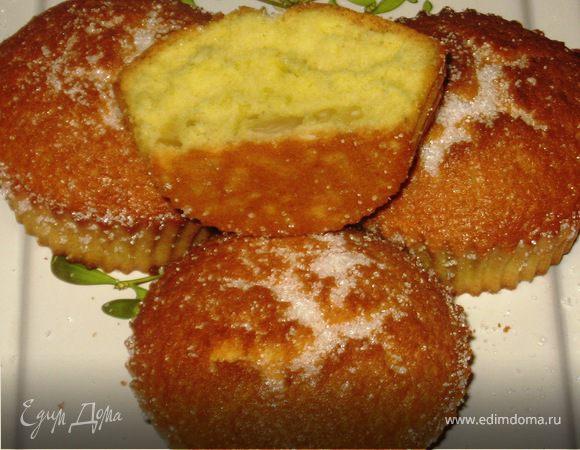 Бисквитные кексы с кедровыми орешками