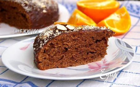Рецепт «Безумный» шоколадно-банановый пирог с шоколадно-апельсиновой глазурью