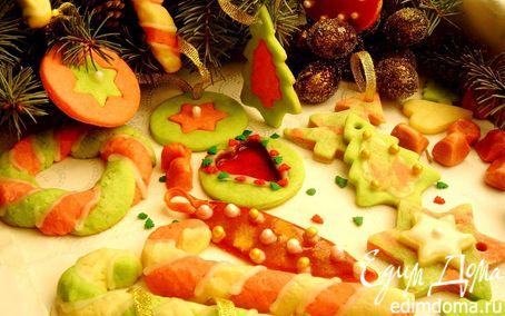 Рецепт Вкусная елка: посохи, веночки, льдинки и прочие сладкие украшения